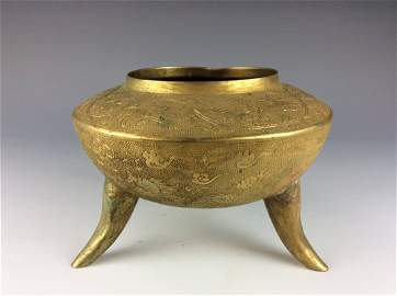 Masterpiece,  Qing period, Chinese gilt metalwork,
