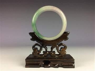 Fine Chinese jadeite bangle  Size & Condition:  please