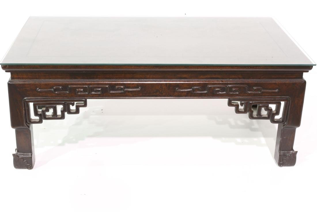 "[CHINESE]A ROSE WOOD TEA TABLE  L:40.5"" W:22.5"" H:16"""
