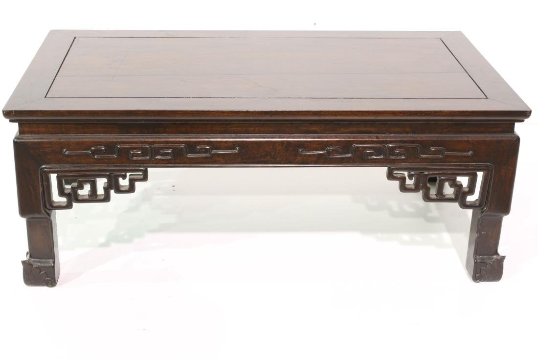"[CHINESE]A ROSE WOOD TEA TABLE  L:40.5"" W:22.5"" H:16"" - 2"