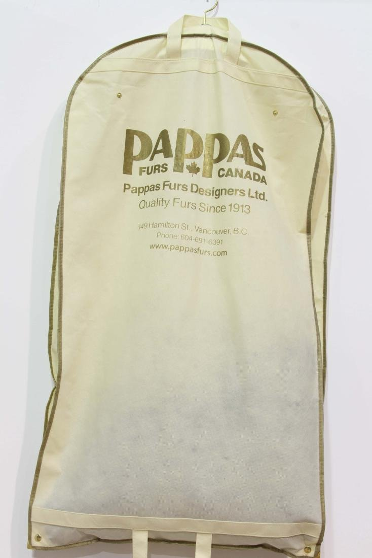 VANCOUVER CANADA PAPPAS FURS CASHMERE STOLE WITH FOX - 3