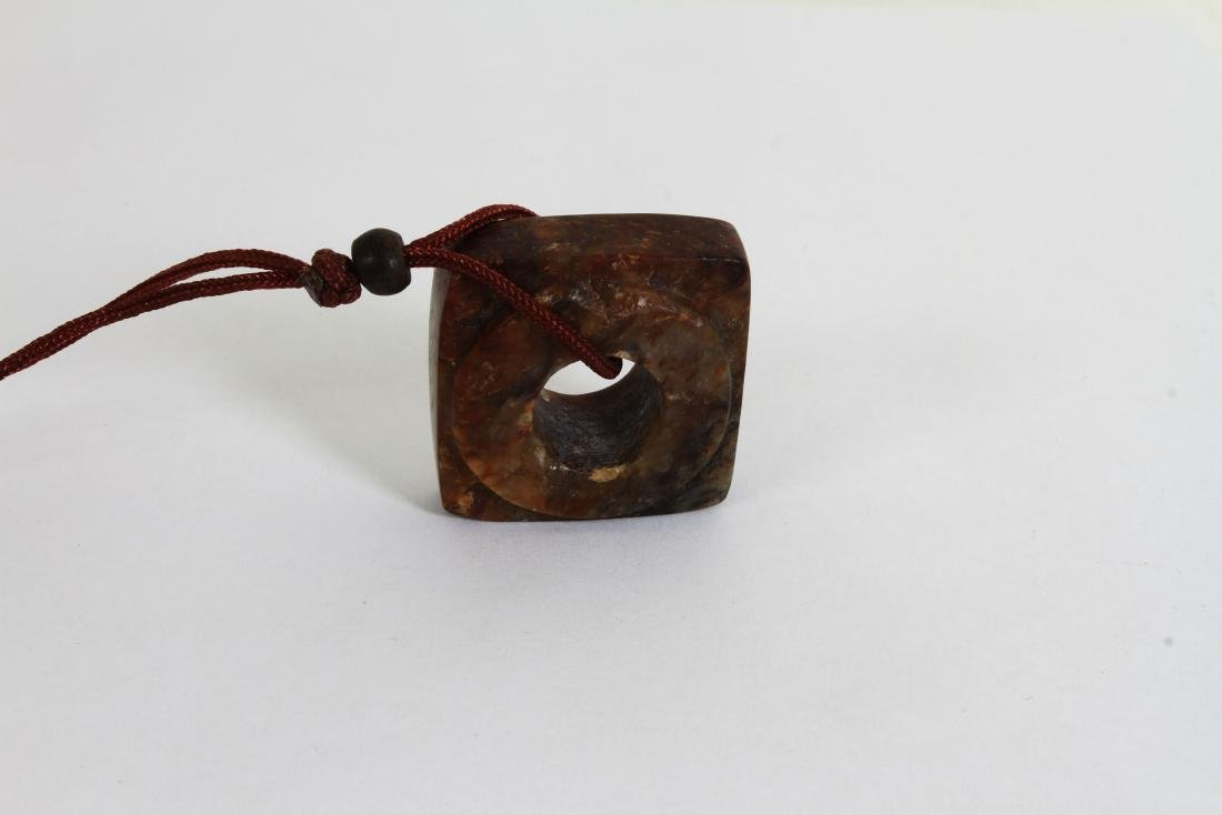 [CHINESE]A LATE 19TH CENTURY JADE CARVED PENDANT