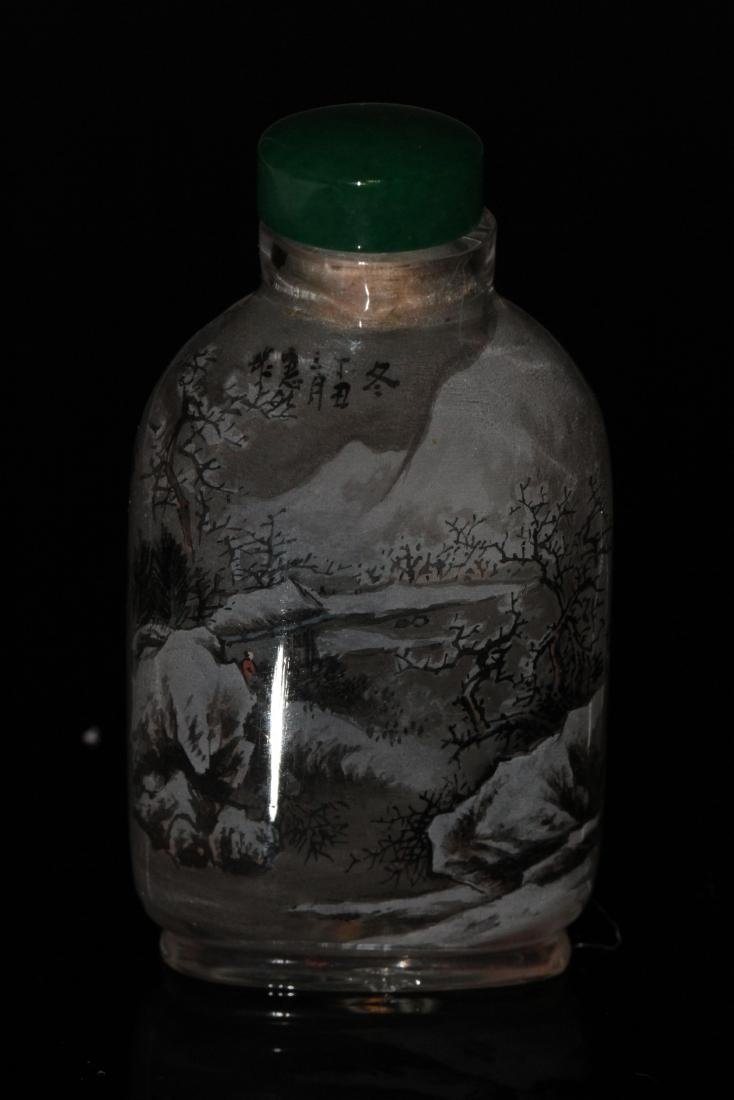 [CHINESE]A SNUFF BOTTLE PAINTED WITH SUMMER AND WINTER