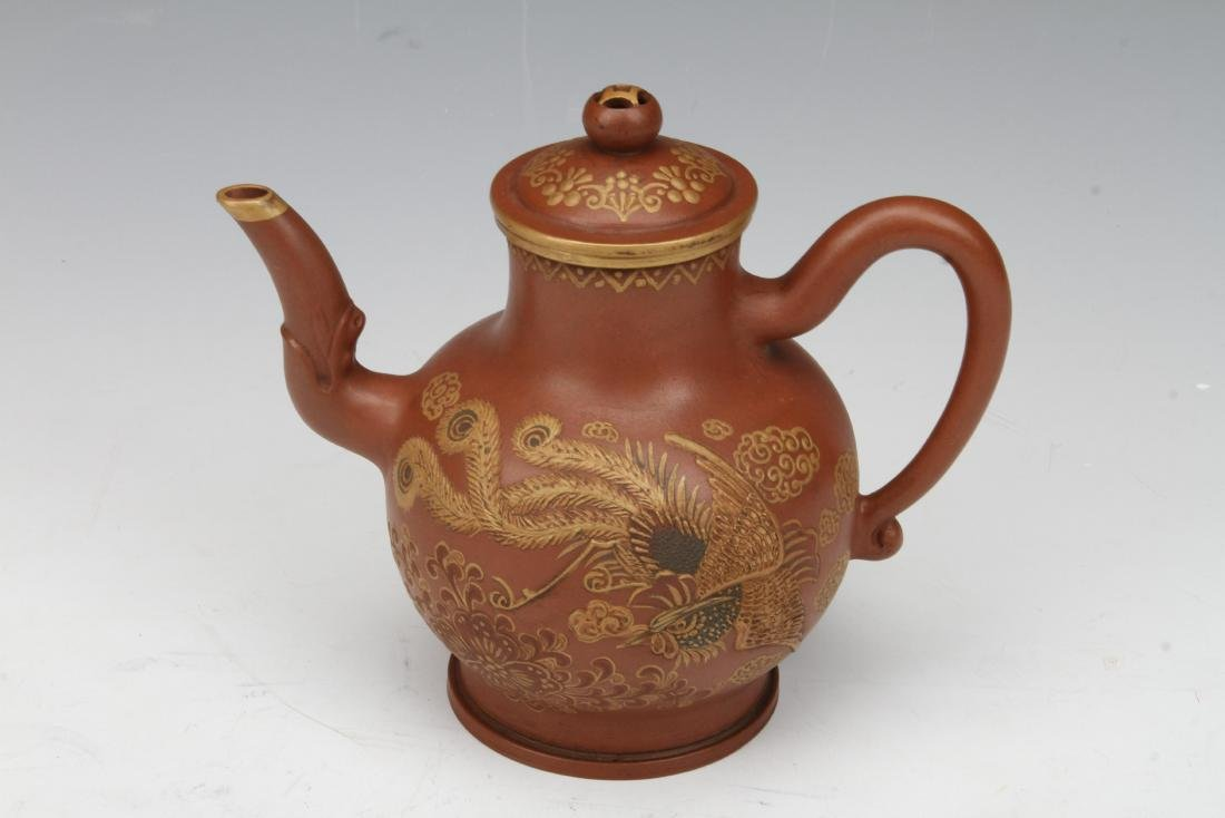 [CHINESE]KANG XI PERIOD STYLED GOLD INCLAID YIXING CLAY