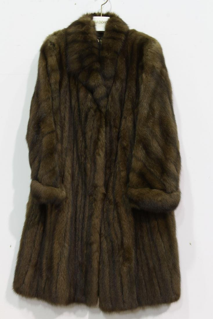 "CANADIAN SABLE FUR COAT""PASTA"" SOLD BY 70 YEARS OLD"