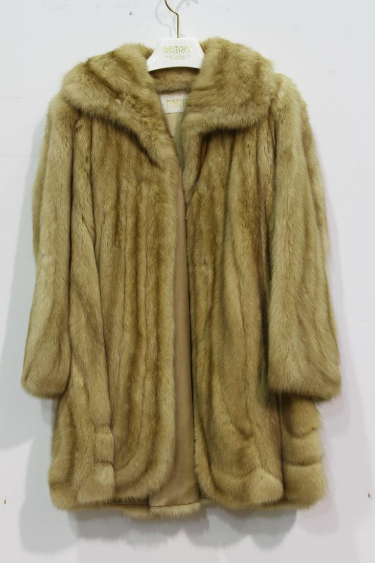 CANADIAN GOLDEN SABLE FUR COAT SOLD BY 70 YEARS OLD
