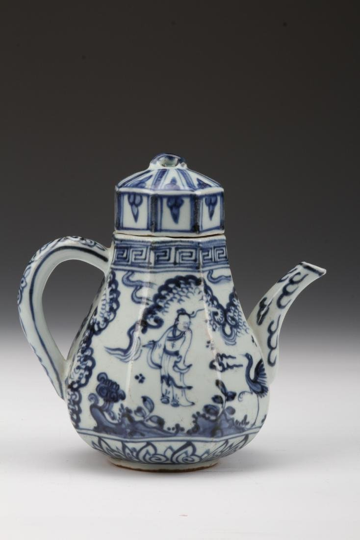 [CHINESE]MING STYLE BLUE AND WHITE PORCELAIN WINEPOT