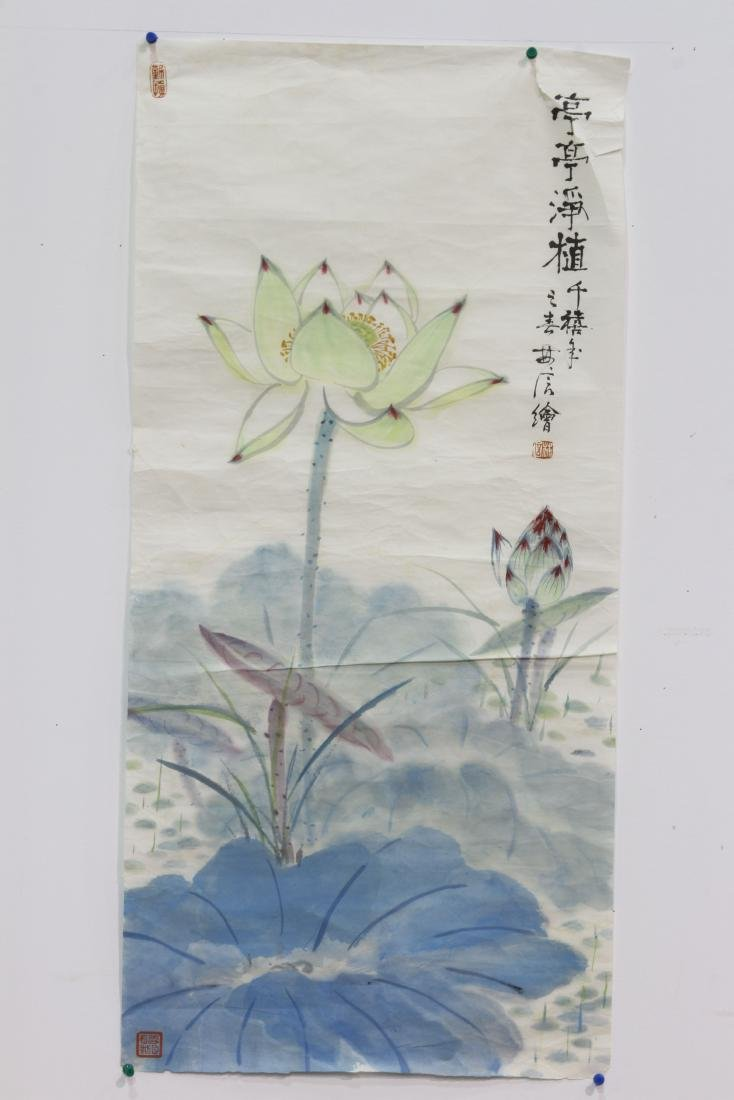 """[CHINESE]""""LIN XIN""""MARKED CHINESE INK PAINTING""""TING TING"""