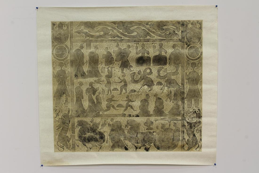 [CHINESE] THE RUBBING OF HAN DANASTY STONE RELIEF