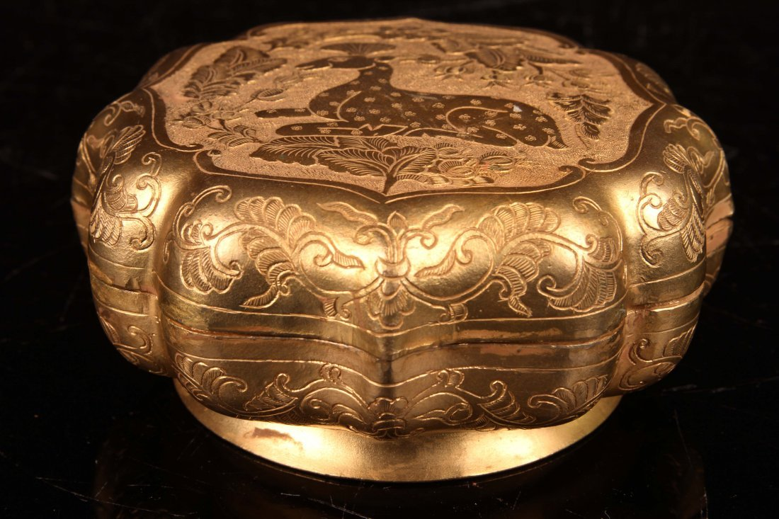"[CHINESE]A ""DATANGZHENGUAN""MARKED BRONZE BOX CARVED"