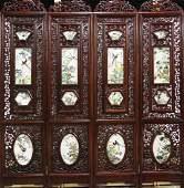 [CHINESE]A SET OF LATE 19TH CENTURY ROSEWOOD SCREEN
