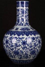 """[CHINESE]A """"DA QING QIAN LONG NIAN ZHI""""MARKED BLUE AND"""