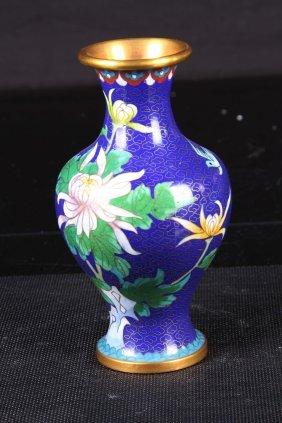 "[chinese]a Cloisonn Enamel Vase W:3.75"" H:7.75"""