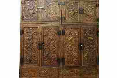 [CHINESE]A PAIR OF QING DYNASTY STYLED HUALI WOOD