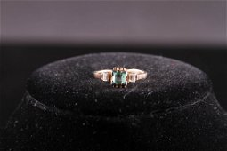 [CHINESE]AFTER 19TH CENTURY 14K GOLD WOMEN EMERALD RING