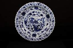 CHINESEA MING DYNASTY STYLED BLUE AND WHITE PLATE