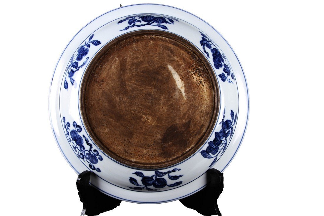 [CHINESE]A MING DYNASTY STYLED BLUE AND WHITE PLATE - 2