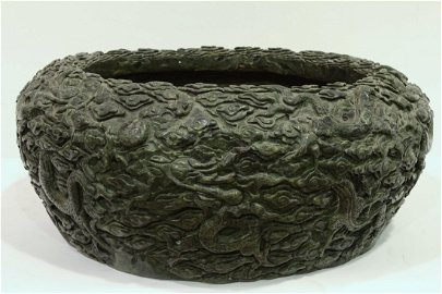 [CHINESE]A LATE 19TH CENTURY JADE CARVED WATER POT WITH