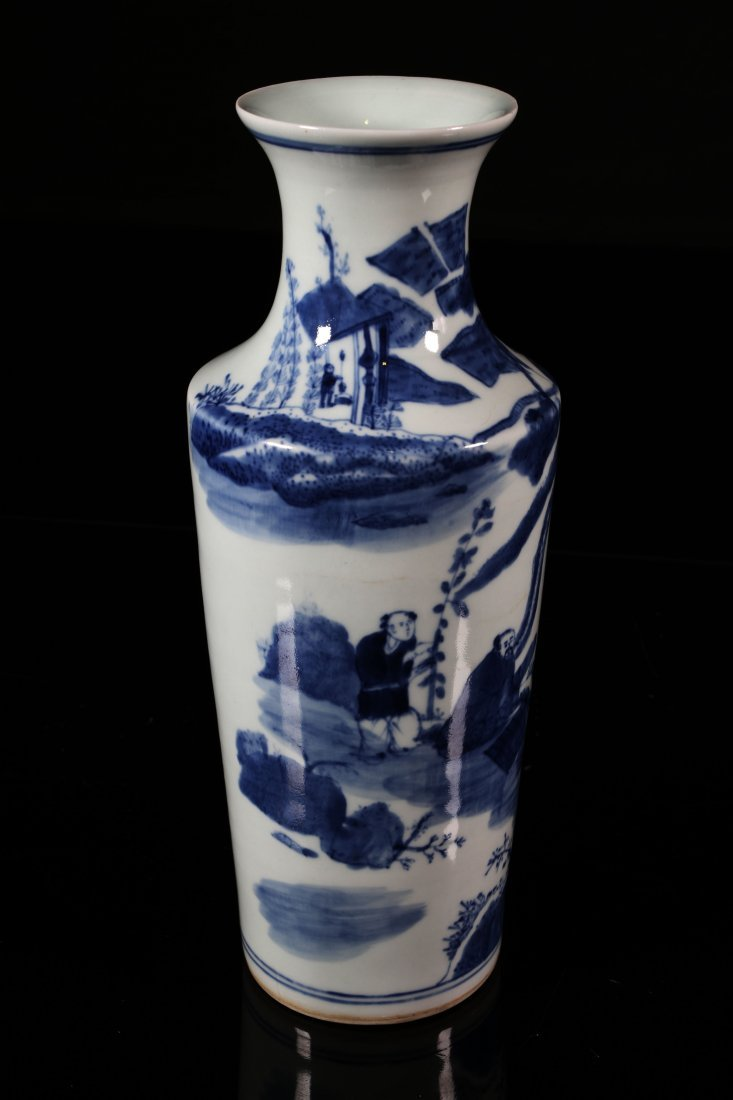 [CHINESE]A LATE 17TH CENTURY BLUE AND WHITE VASE - 4