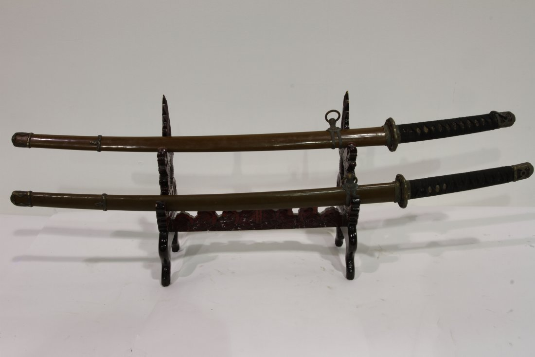 """[OTHER]A PAIR OF JAPANESE KATANA L:39"""" W:2.75"""""""