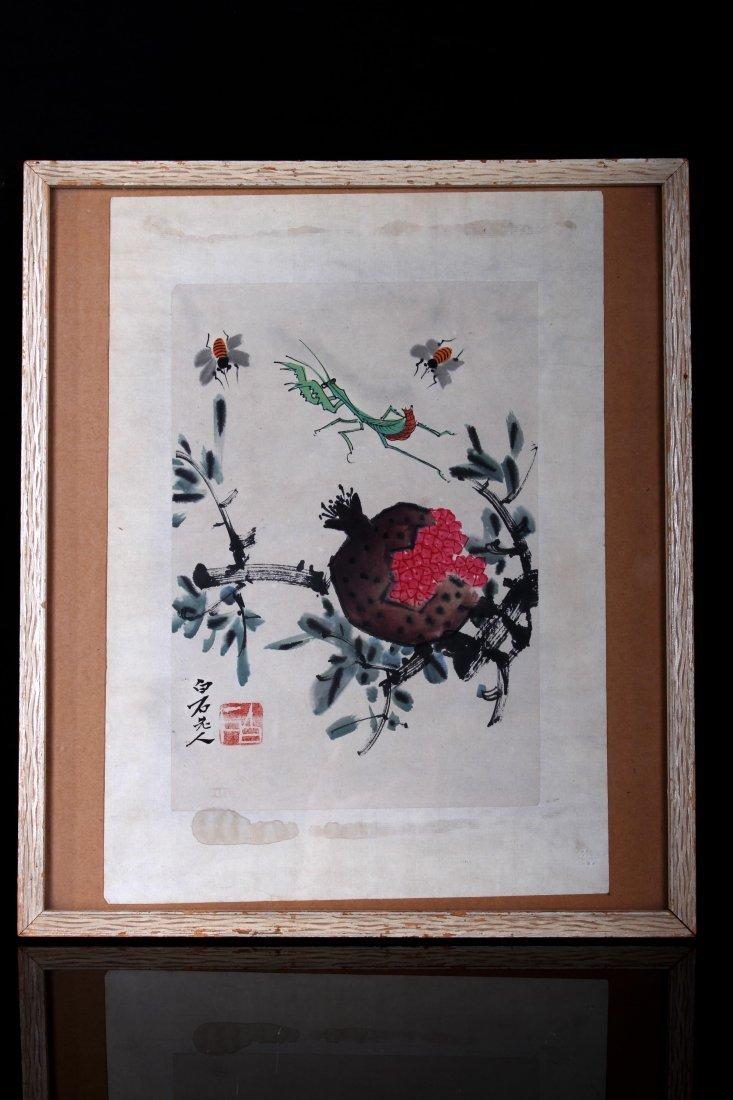 "[CHINESE]""QI BAI SHI""MARKED ""KUN QU TU"" CHINESE INK"