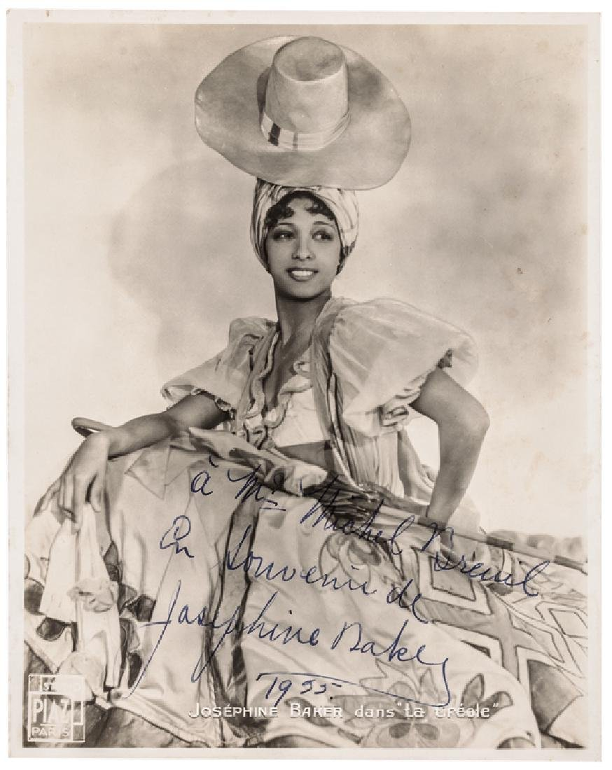 1935-Dated JOSEPHINE BAKER Signed Photograph