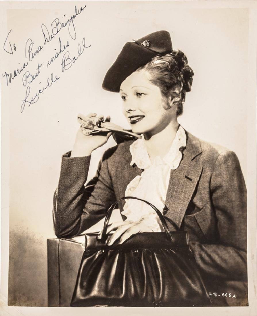 c. 1938 LUCILLE BALL Signed B&W Photograph