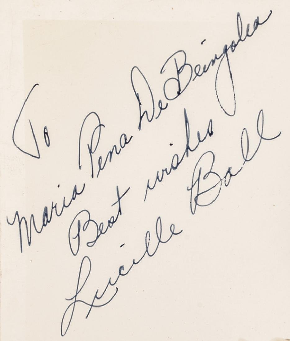 c. 1938 LUCILLE BALL Signed B&W Photograph - 3