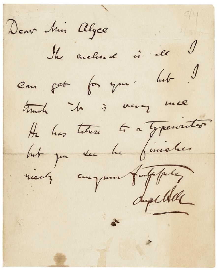 Rare JOSEPH BELL Autograph Letter Signed