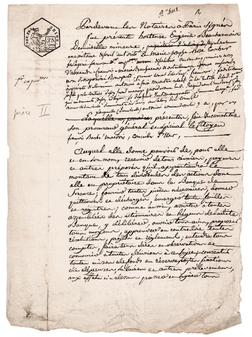 JOSEPHINE BONAPARTE Signed Manuscript Document
