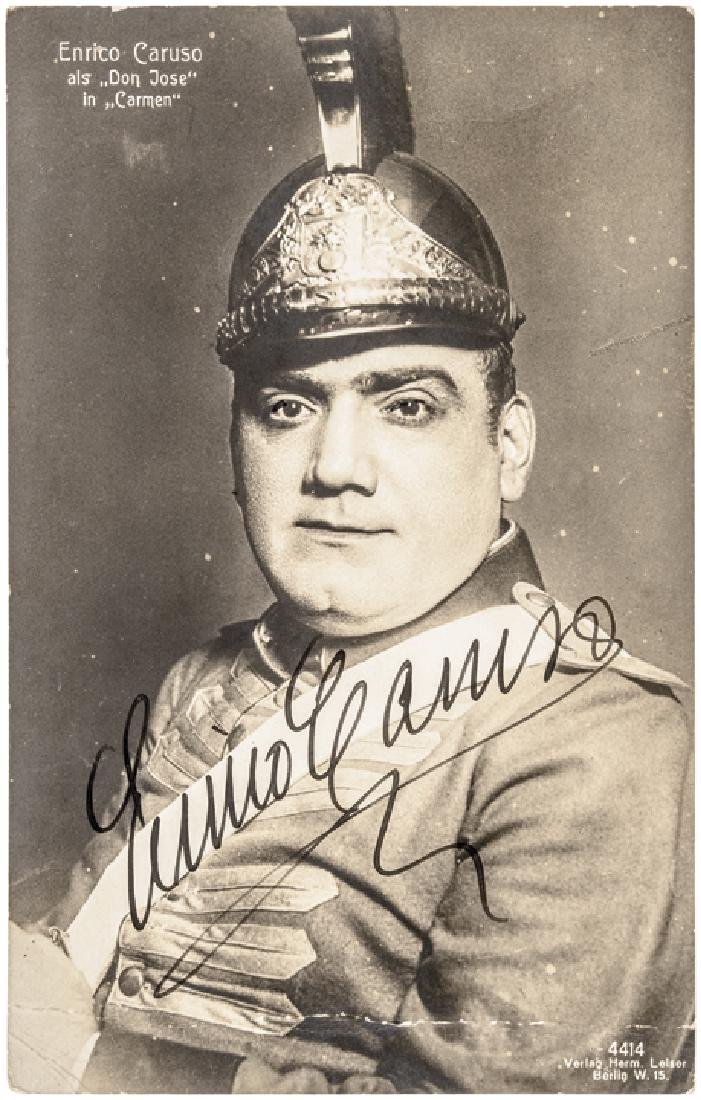 ENRICO CARUSO Signed Photograph from Carmen