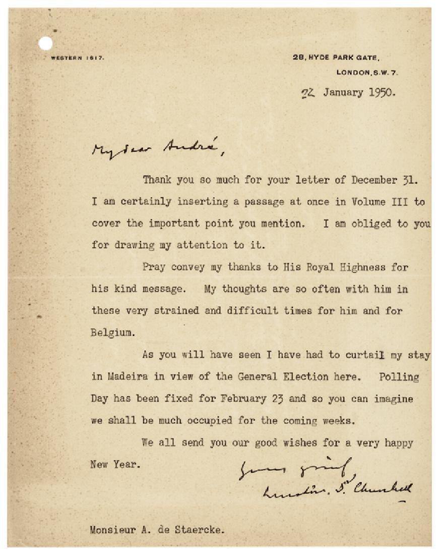 WINSTON S. CHURCHILL Typed Letter Signed