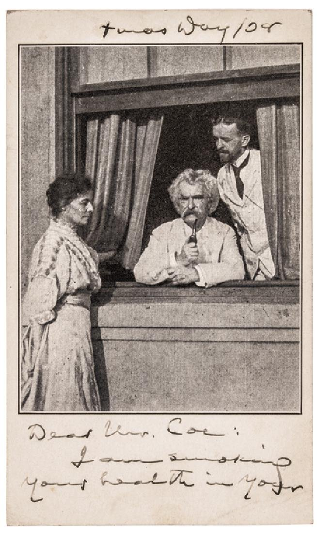 SAMUEL LANGHORNE CLEMENS, MARK TWAIN Autograph