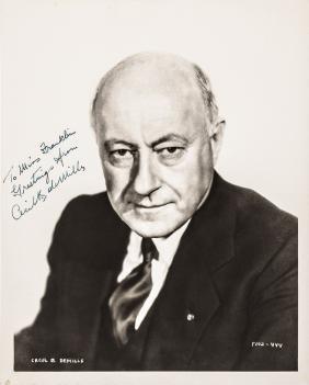 Filmmaker CECIL B. DEMILLE Signed B&W Photograph