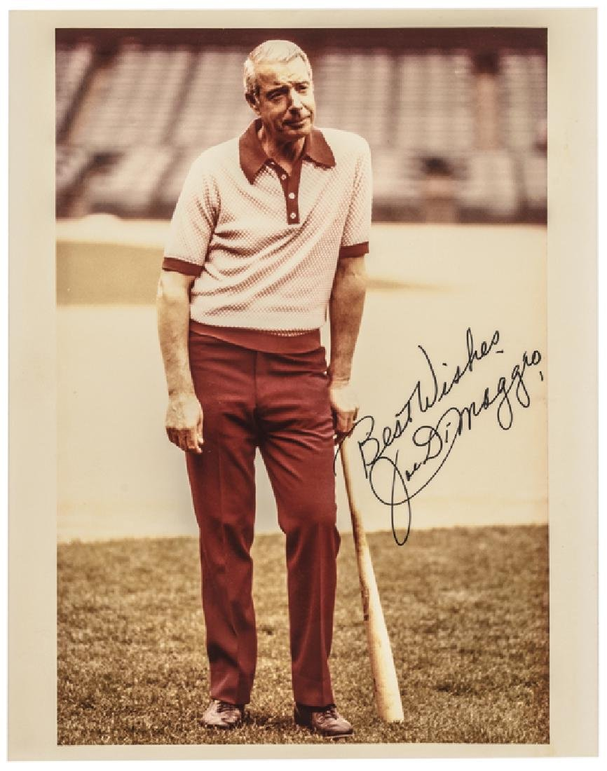 JOE DiMAGGIO Signed Color Photograph