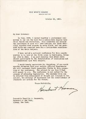 Typed Letter Signed HERBERT HOOVER as President