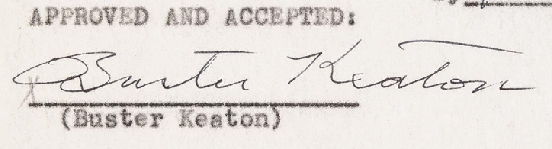 1945 BUSTER KEATON Signed Agreement with MGM - 2