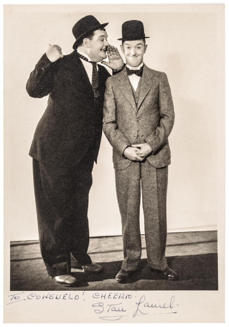 STAN  LAUREL Signed Photograph with Oliver Hardy