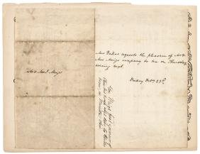 1816 (DOLLEY MADISON) Partly-Printed Document