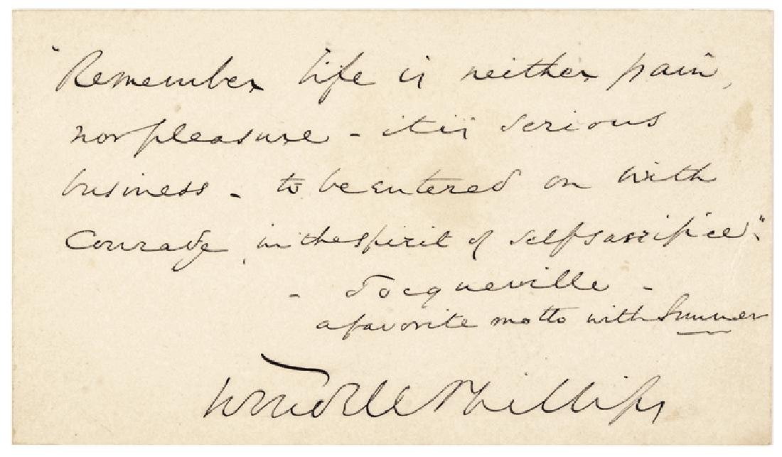 WENDELL PHILLIPS Autograph Quotation Signed