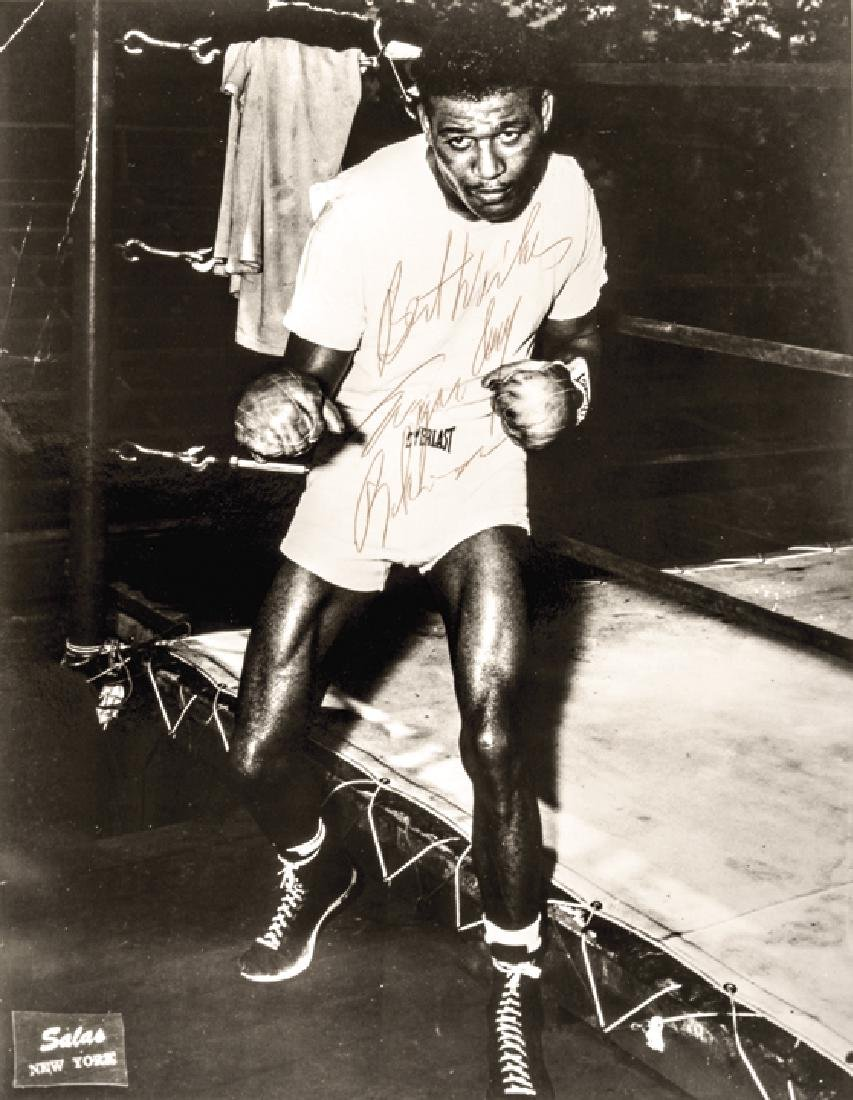 SUGAR RAY ROBINSON Autographed Photo Signed