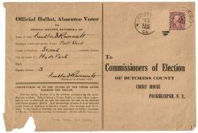 1927 FRANKLIN D. ROOSEVELT Voter Registration