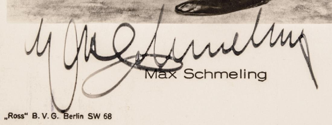 MAX SCHMELING Photographic Postcard Signed - 3