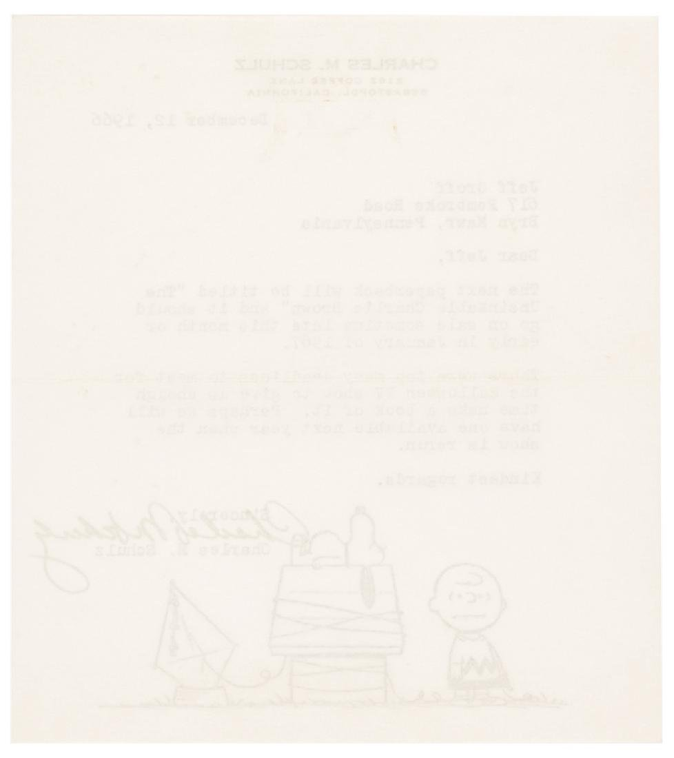 Cartoonist CHARLES M. SCHULZ Typed Letter Signed - 2