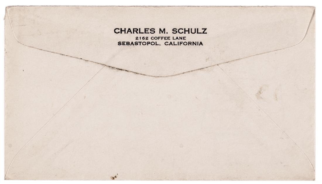 Cartoonist CHARLES M. SCHULZ Typed Letter Signed - 4