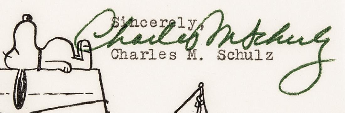 Cartoonist CHARLES M. SCHULZ Typed Letter Signed - 5