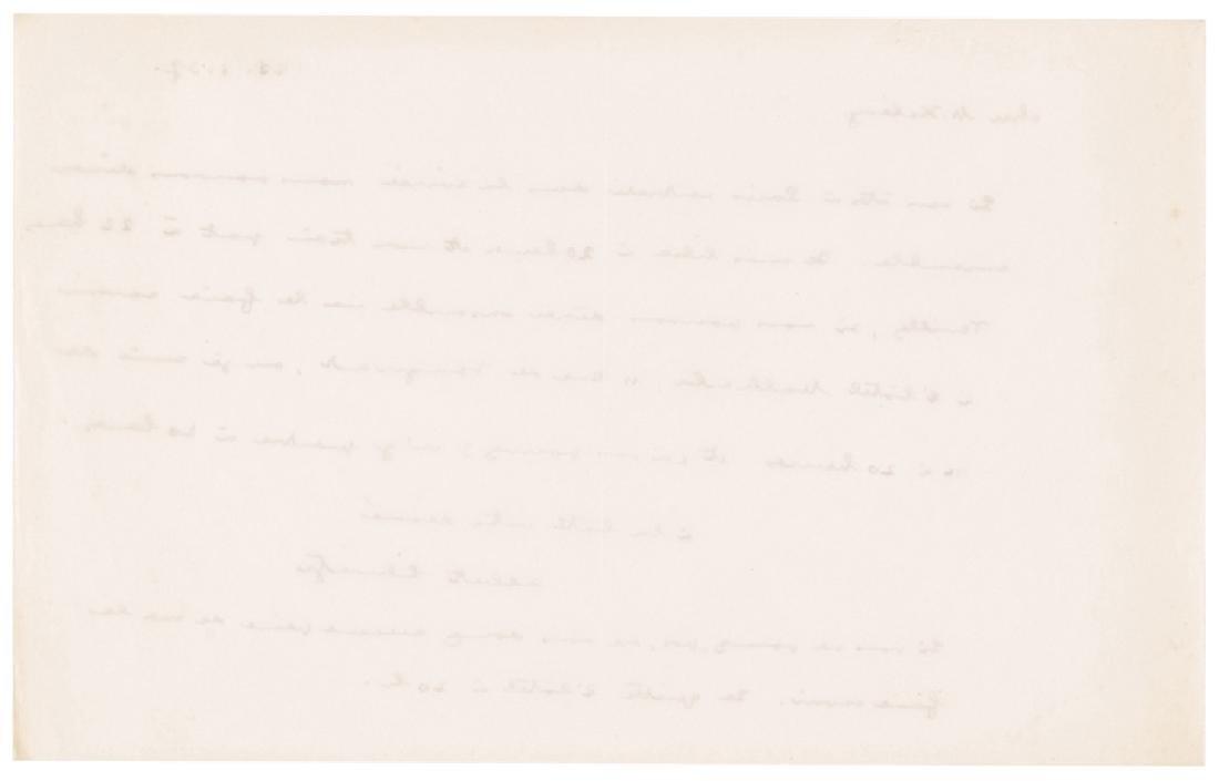 ALBERT SCHWEITZER Autograph Letter Signed - 2