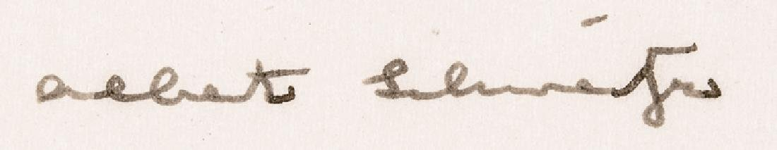 ALBERT SCHWEITZER Autograph Letter Signed - 3