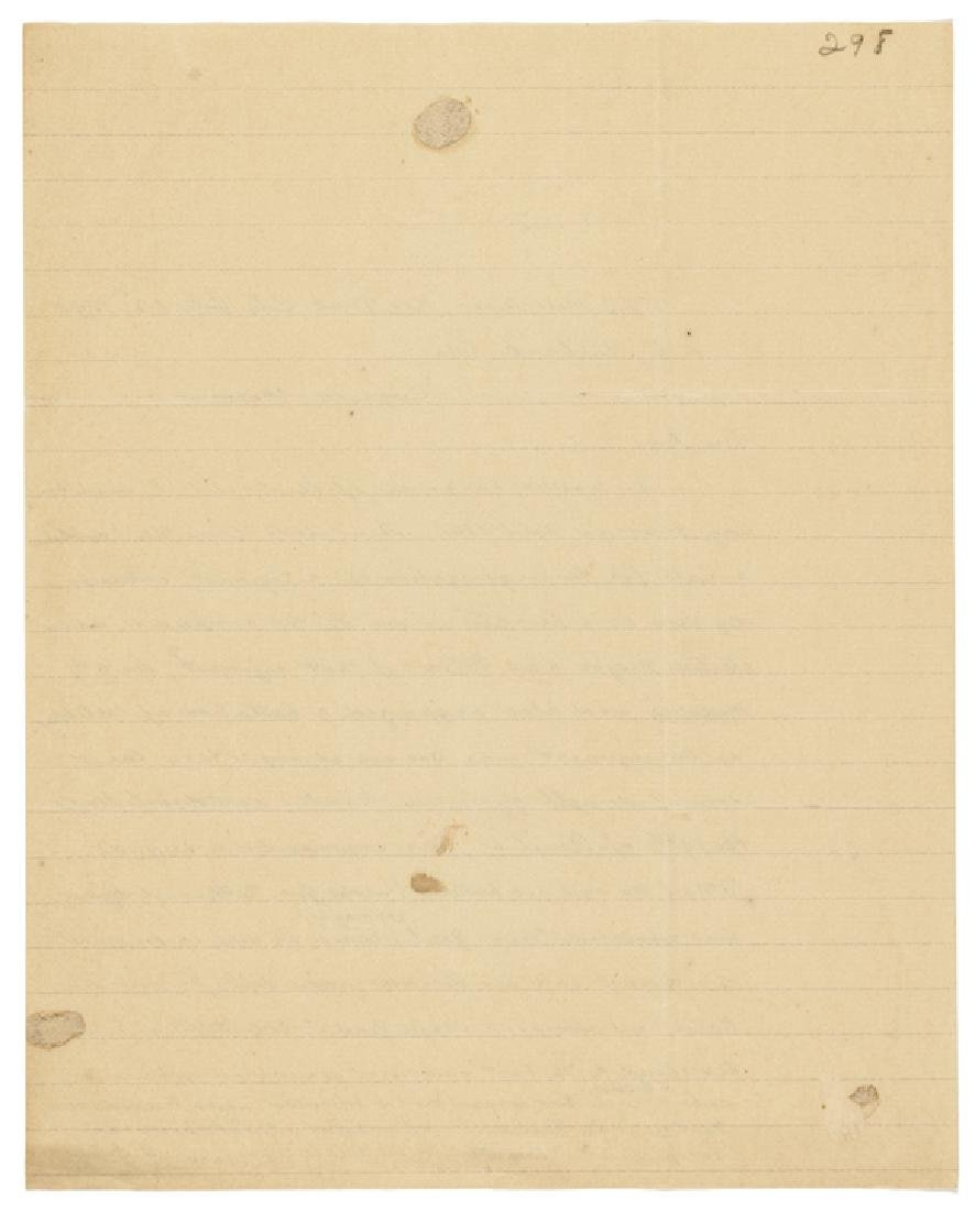 Maj. General FRANZ SIGEL Autograph Letter Signed - 2