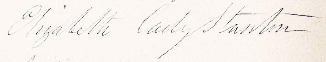 1872 ELIZABETH CADY STANTON Autograph Quotation - 3